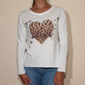 camiseta algodon animal print brillos