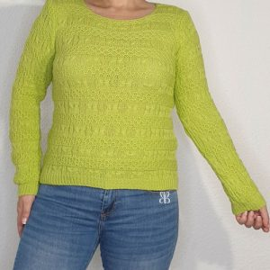 jersey punto mujer verde
